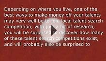 Making Money - Off Your Own Talents!